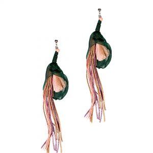 Studio Boneli handmade earrings summer 2016 flowers collection