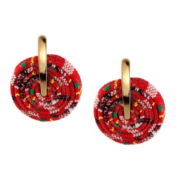 ΒΟΗΟ σκουλαρίκια από υφαντό κορδόνι