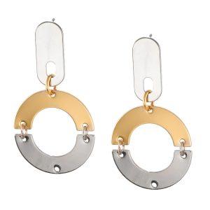 Studio Boneli χειροποίητα σκουλαρίκια REFLECTIONS σκουλαρίκια ασημί - χρυσό