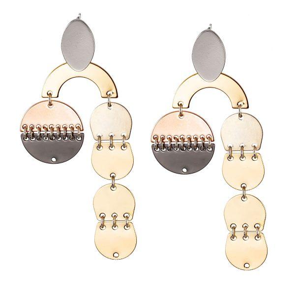 Studio Boneli χειροποίητα REFLECTIONS σκουλαρίκια μεγάλα