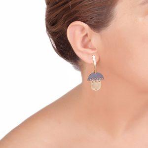REFLECTIONS σκουλαρίκια χρυσό - ασημί